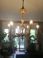 Bécsi Barokk fa aranyozott csillár