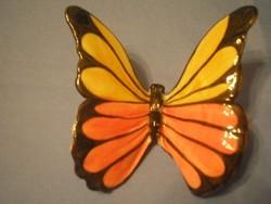 N2 Gmundnem egyedi porc pillangó ritkaság 9 x7cm csodás színekkel jelzett