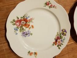 Antik ZSOLNAY virágos tányérok,6db lapos!