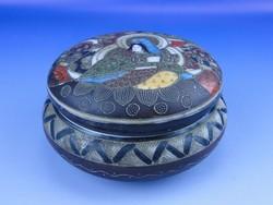 0D801 Antik japán porcelán bonbonier satsuma