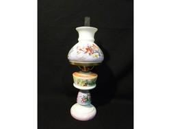 3952 Antik festett porcelán petróleumlámpa