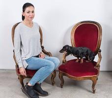 Neobarokk gyermek/kisasszony fotel párban