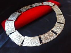 Kivételes ezüst designer nyakék.Kleopátra stílusban 80.70 gr