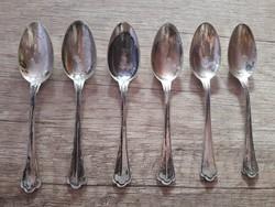 Csodás antik ezüst kiskanalak 6 db