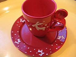 Belacona szarvasos téli, karácsonyi reggeliző szett
