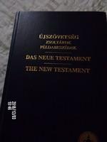 Újszövetség -három nyelven