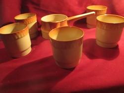1114 5 + 1 db lengyel Tulowice csésze  pohár 3 dl 9x8,5 cm