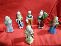 6 öreg kínai bölcs figura