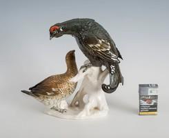 Ens porcelán madár pár nagyméretű