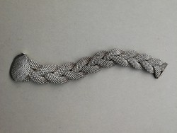 Ezüst fonott dekoratív impozáns 925- ös karkötő.