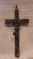 Antik réz Jézus kereszt