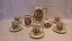 Victoria Altwien porcelán kávés készlet