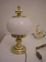 N13  Asztali működő szép állapotú gömb burás lámpa eladó