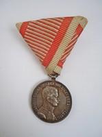 IV. Károly ezüst vitézségi érem II. osztálya 1917