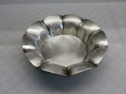 Antik, jelzett ezüst kínáló, asztalközép
