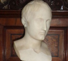 Napóleon mellszobor fehér márványból a 19. század első feléből
