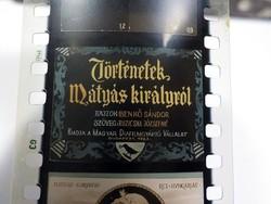Diafilm :  Történetek Mátyás királyról  1965 Magyar Diafilmgyártó vállalat