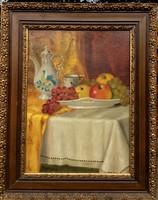 Burghardt Rezső asztali csendélet.