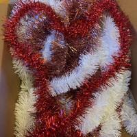 Csodaszép piros árnyalatú girland/karácsonyi dísz/5db.