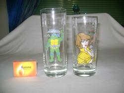 Retro Tini Ninja mintás gyermek pohár - két darab