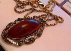 Kiváló minőségű Vintage Török ékszer . medál és lánc