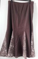 Retro, vintage nagyon mutatós ,divatos hímzett betétes  vászon harang szoknya