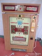 Retro schilling nyerőautomata játékgép 88 x 57 cm