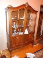 Chippendél,Warrings,Bartels ,antik Warrings 4 vitines szekrény 110-115x198x40cm
