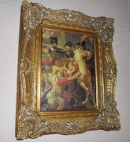 Antique typ Napoleon emperor painting picture, luxury baroque gold frame