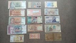 15 db külföldi bankjegy