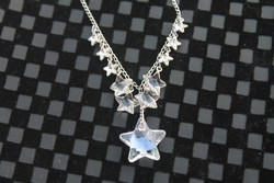 Swarovski Nyaklánc, Swarovski Kristállyal,  Swarovski Necklace with crystal stars
