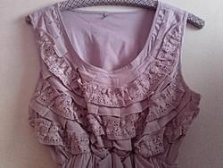 Retro, vintage mályva színű csipke felsőrészű hagymaszoknyás női ruha