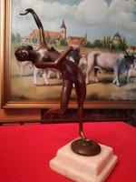 Art deco antik bronz.táncos.női akt
