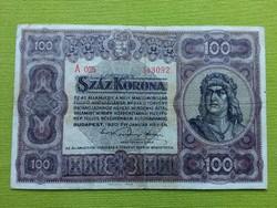 Száz korona 1920