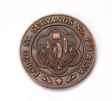 Szabadkőműves érem,St. Servanus No. 771 lodge.