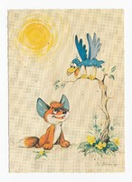 Vuk a kis róka képeslap posta tiszta 1981