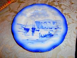 Sarreguemines francia porcelánfajansz tányér
