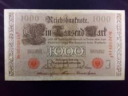 Német 1000 Márka 1910 piros bélyegzéssel