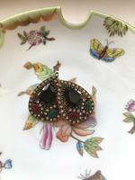 Csepp alakú, török stílusú fülbevaló- francia kapoccsal