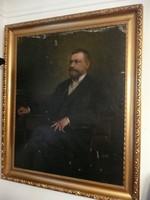 Festmény gyűjtők figyelem! SZENES FÜLÖP (1863-1944) óriási 160*130 cm olaj festménye