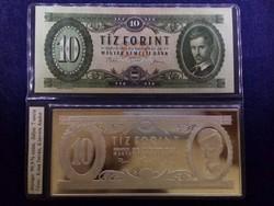 10 Forint 1975 7 unciás színezüst UNC bankjegy leveret
