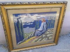 Krisztus az olajfák alatt c. gobelin goblen kép