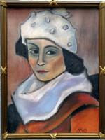 """Mohy Sándor ( 1902-2001 ) """" Art deco lány, sapkában """""""