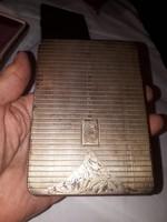 Ezüst cigarettatárca dobozában fellelt állapotban