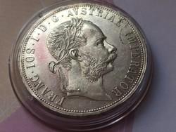 1887 ezüst 2 Florin, gyönyörű,verdefényes karcmentes darab,Nagyon Ritka!!!