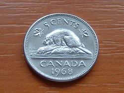 KANADA 5 CENT 1968 HÓD