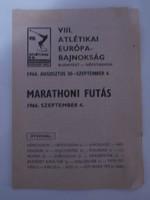 Marathoni futás - 1966 Budapest Atlétikai EB