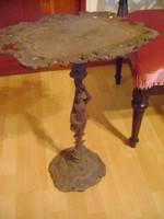 Antik nőalakos öntöttvas kínáló tál/asztalka (RITKASÁG!)