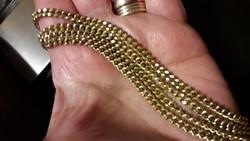 18K antik, súlyos  sárga arany nyaklánc 42gr