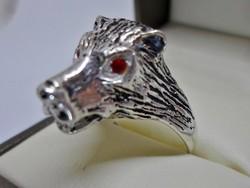 Különleges farkas  ezüstgyűrű